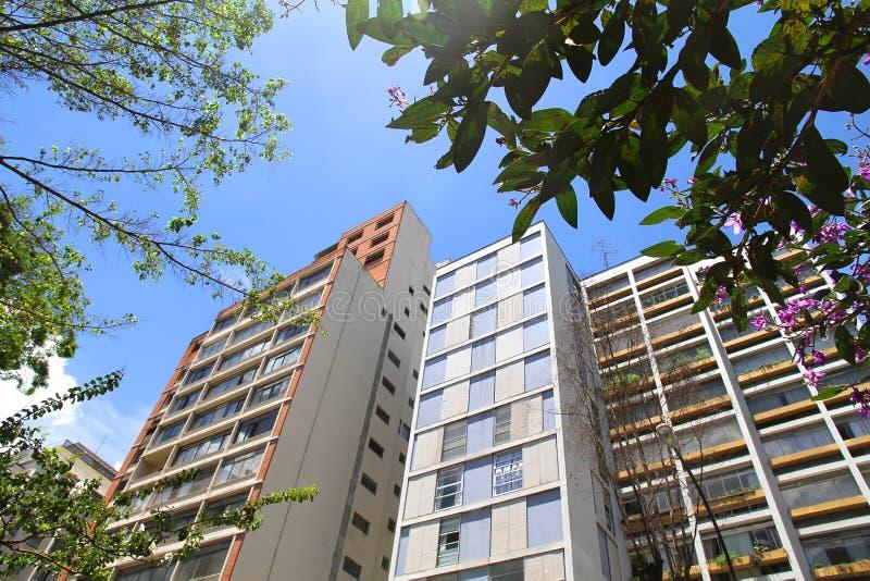 Edifícios em Sao Paulo da baixa imagens de stock royalty free