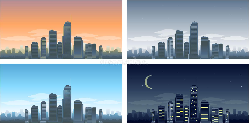 Edifícios grandes da cidade ilustração royalty free