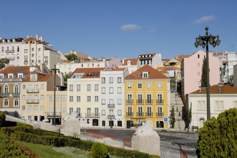 Edifícios históricos de Lisboa foto de stock