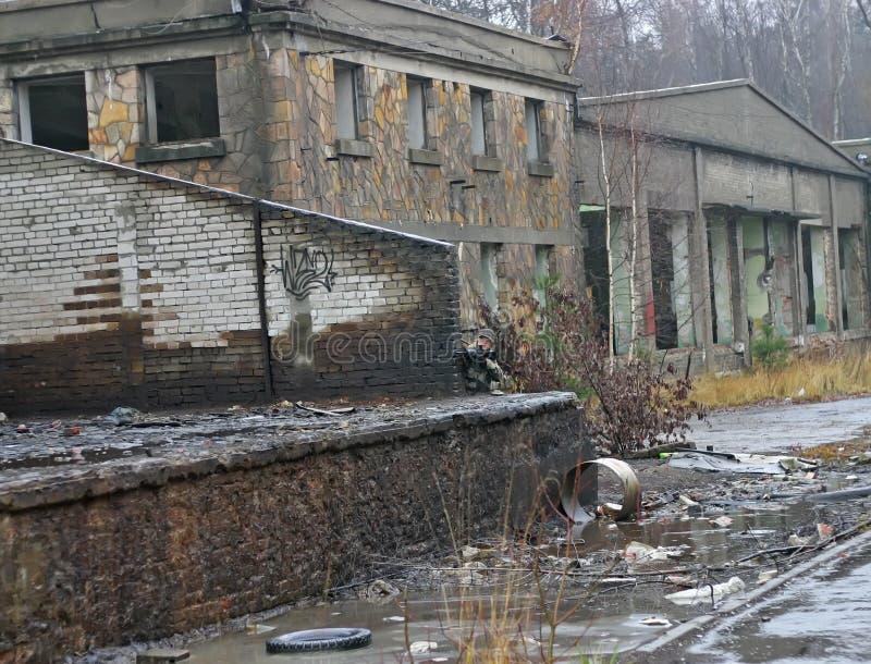 Edifícios industriais abandonados foto de stock royalty free