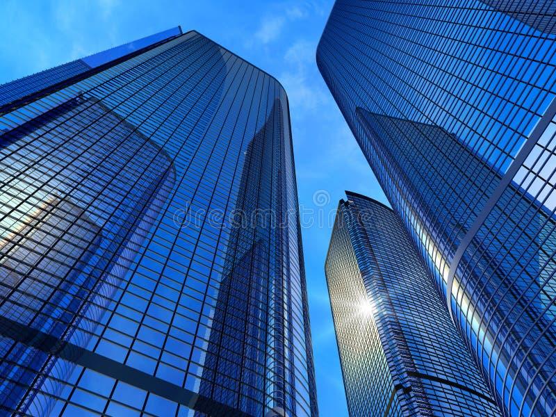 Edifícios modernos do negócio imagem de stock royalty free