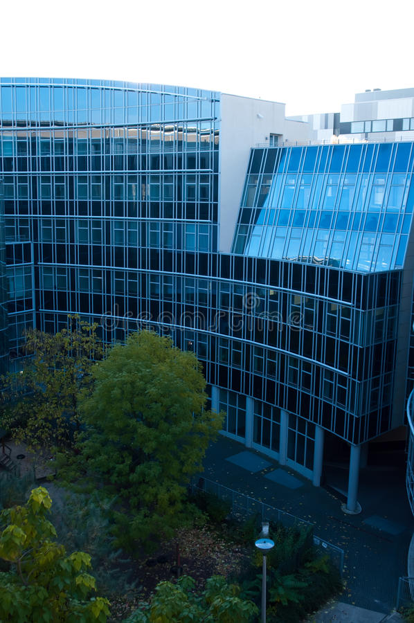 Edifícios modernos em Berlim fotografia de stock