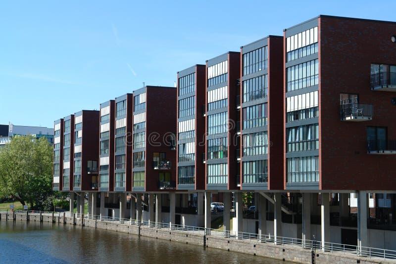 Edifícios modernos em Hamburgo fotografia de stock