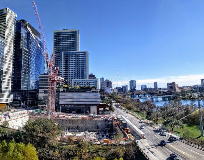 Edifícios modernos no centro de Austin Texas num belo dia foto de stock royalty free