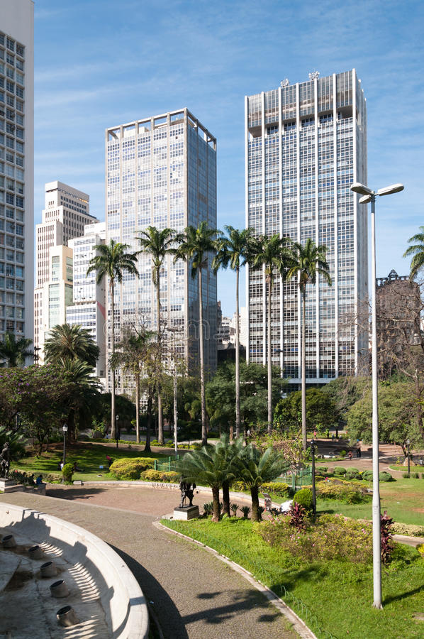 Edifícios na cidade de Sao Paulo. imagem de stock royalty free