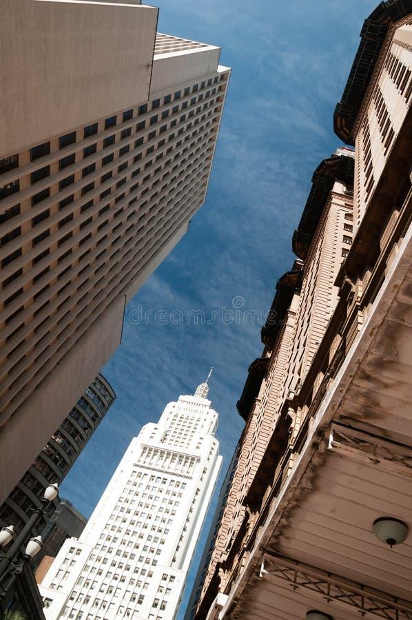 Edifícios na cidade de Sao Paulo. fotografia de stock royalty free