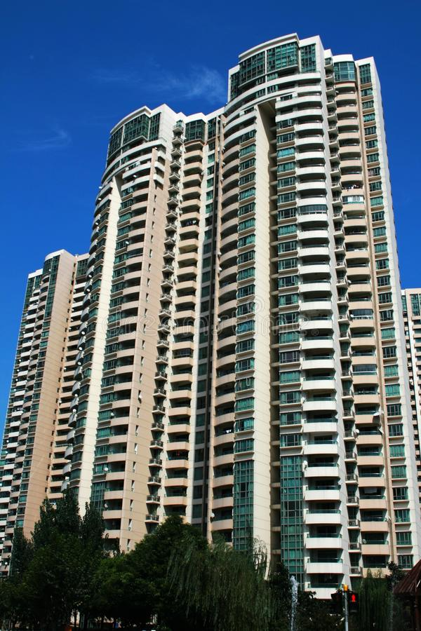 Edifícios residenciais imagens de stock
