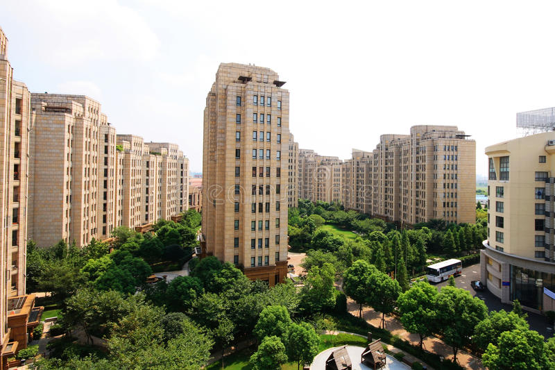 Edifícios residenciais imagens de stock royalty free