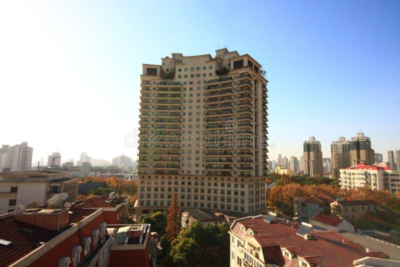 Edifícios residenciais imagem de stock