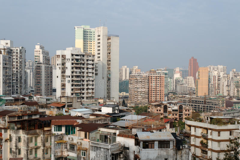 Edifícios residenciais de Macau foto de stock royalty free