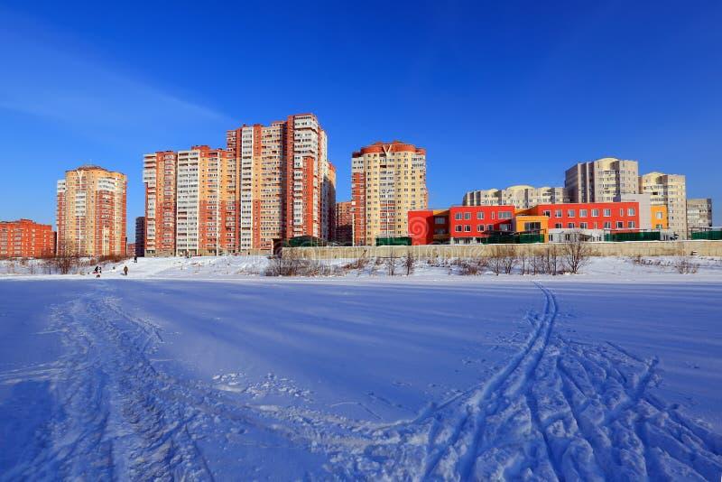 Edifícios residenciais novos Balashikha, região de Moscou, Rússia fotos de stock