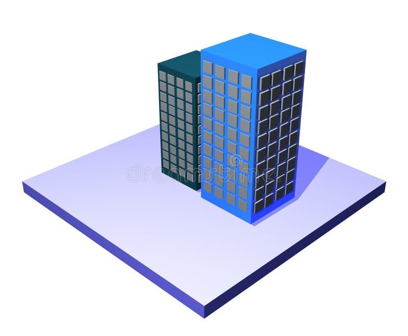 Edifícios - série da gerência da cadeia de aprovisionamento ilustração stock