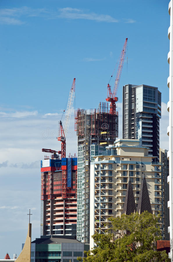 Edifícios sob a construção fotografia de stock royalty free