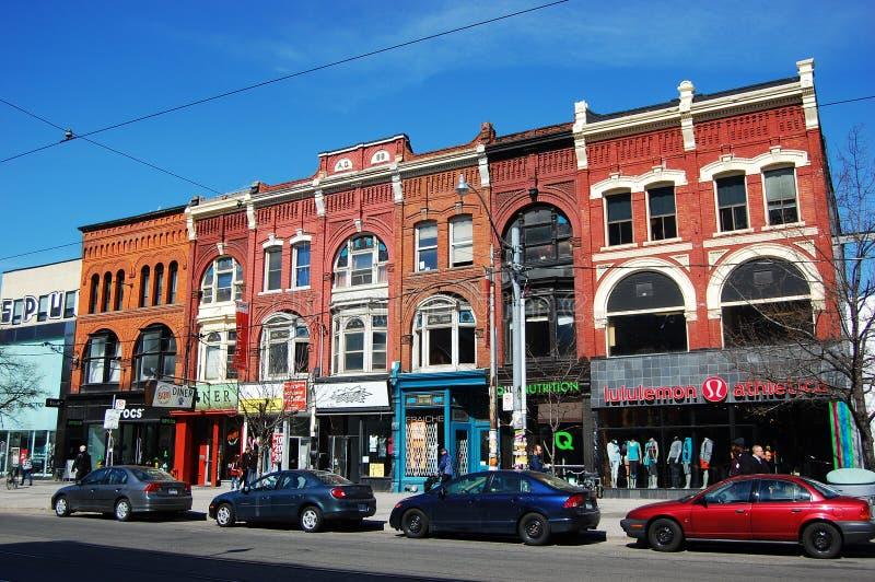Edifícios velhos do Victorian em Toronto imagem de stock
