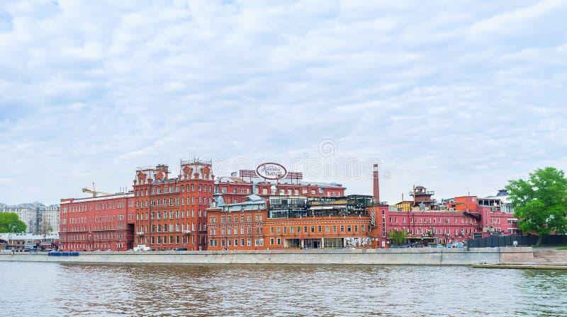 Edifícios vermelhos de Moscou foto de stock