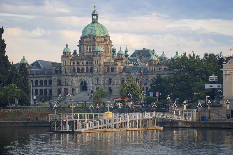 Edif?cio do parlamento em Victoria, Columbia Brit?nica foto de stock royalty free