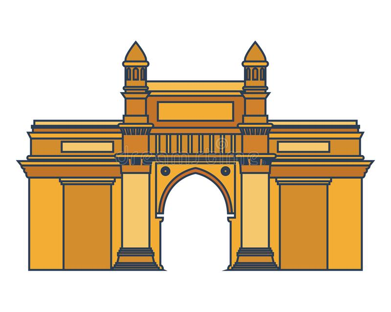 Edification brama ind odosobniona ikona royalty ilustracja