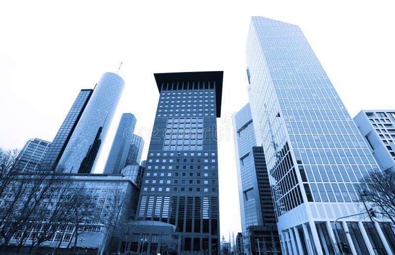 Edifici alti a Francoforte sul Meno fotografie stock libere da diritti