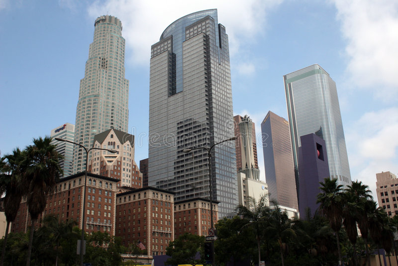 Edifici del centro di Los Angeles immagine stock libera da diritti