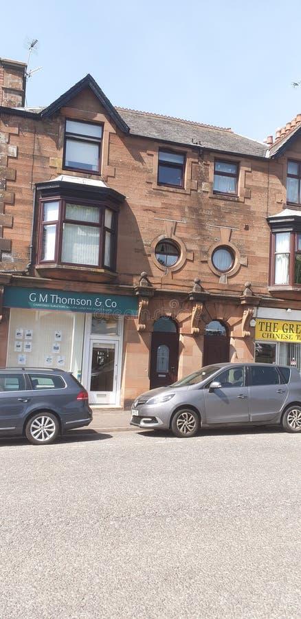 Edifici di Douglas Kircudbrightshire Scotland Historic del castello fotografie stock