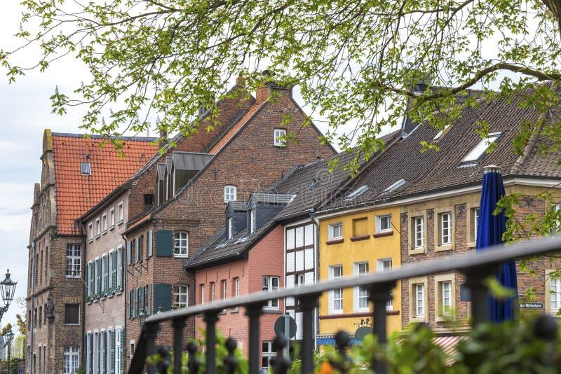 edifici di duesseldorf Germania del kaiserswerth fotografia stock libera da diritti