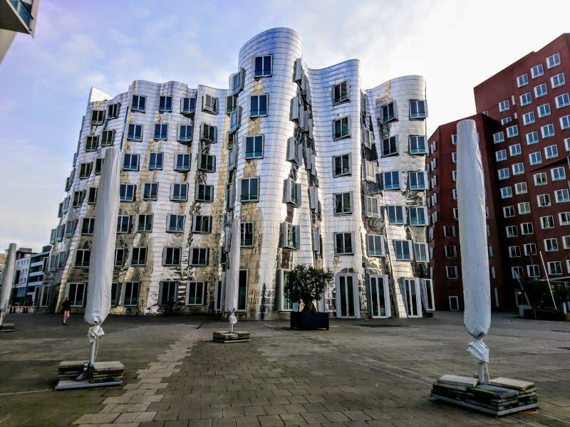 Edifici di Gehry nello sseldorf del ¼ di DÃ fotografia stock