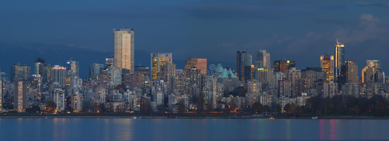 Edifici di Vancouver immagini stock