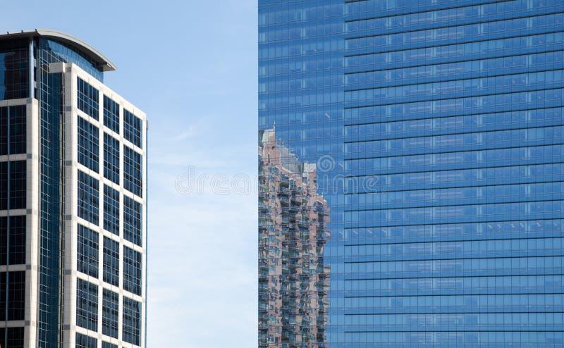 Edifici per uffici del centro di Houston fotografia stock libera da diritti