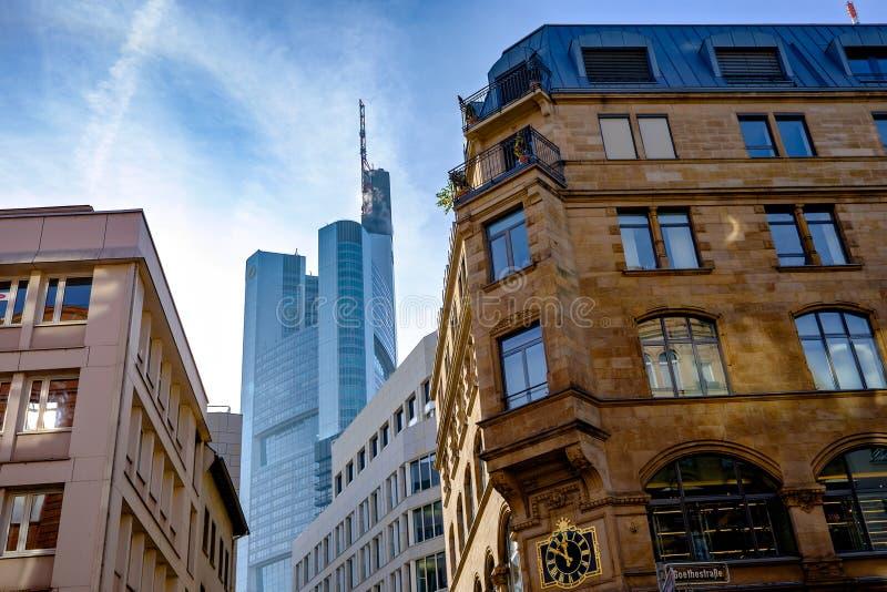 Edifici per uffici a Francoforte immagini stock
