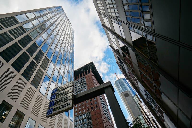 Edifici per uffici a Francoforte immagine stock libera da diritti