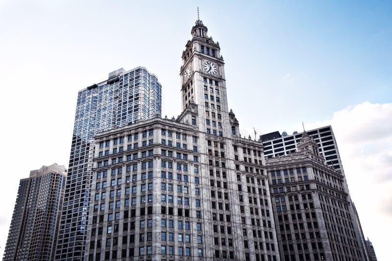 Edifici per uffici moderni. Fondo sulla vista. Chicago fotografie stock
