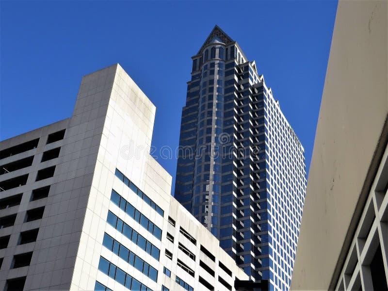 Edifici per uffici, Tampa del centro, Florida fotografia stock libera da diritti
