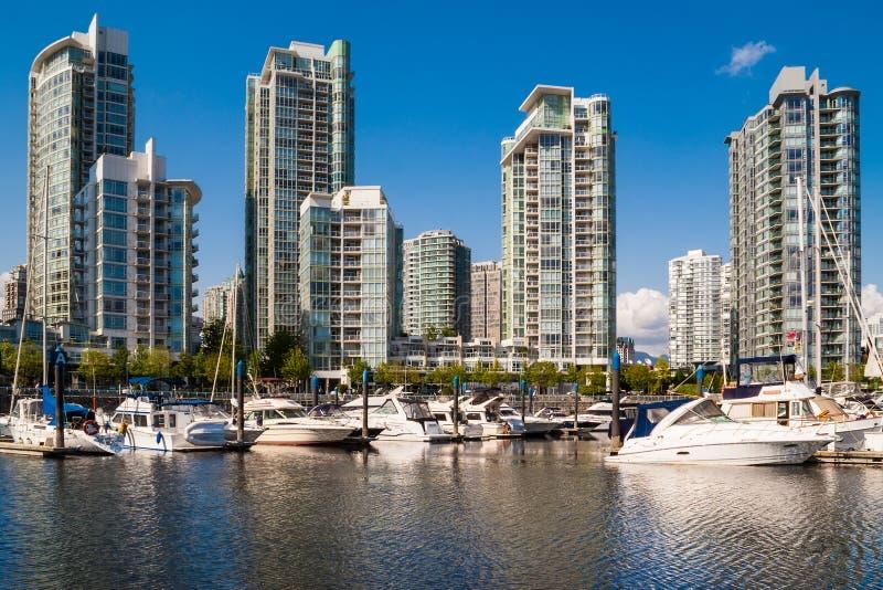 Edifici residenziali di Yaletown, Vancouver, Canada fotografia stock libera da diritti