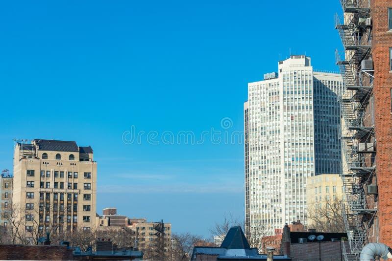 Edifici residenziali e tetti in Lincoln Park Chicago fotografia stock