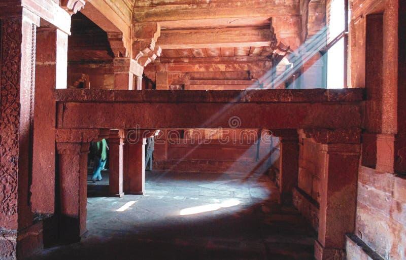 Edifici storici di Fatehpur Sikri a Agra, India fotografia stock