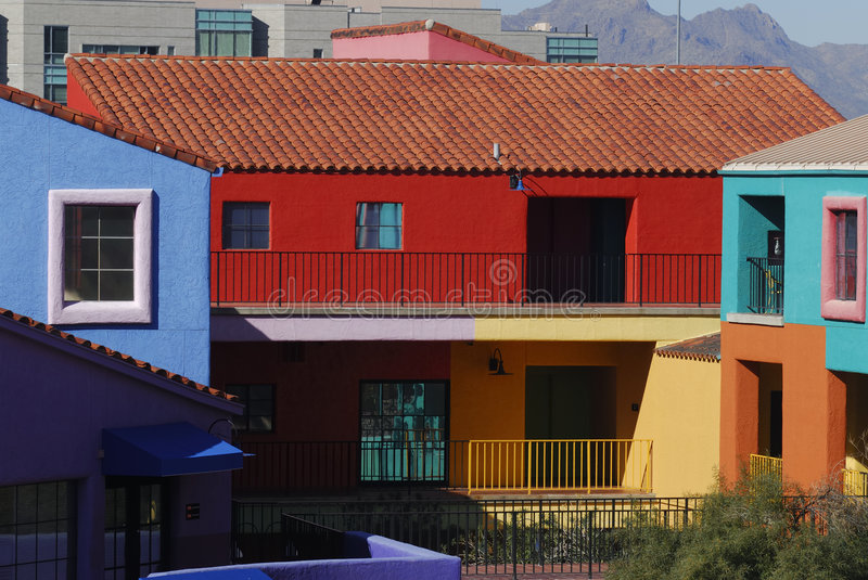 Edifici variopinti del Tucson immagine stock libera da diritti
