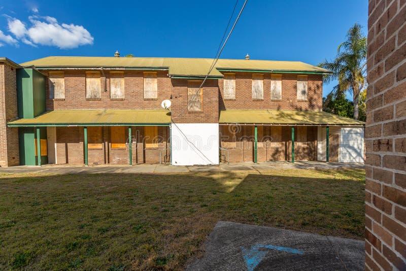 Edificio abandonado del asilo de la isla de la turba foto de archivo libre de regalías