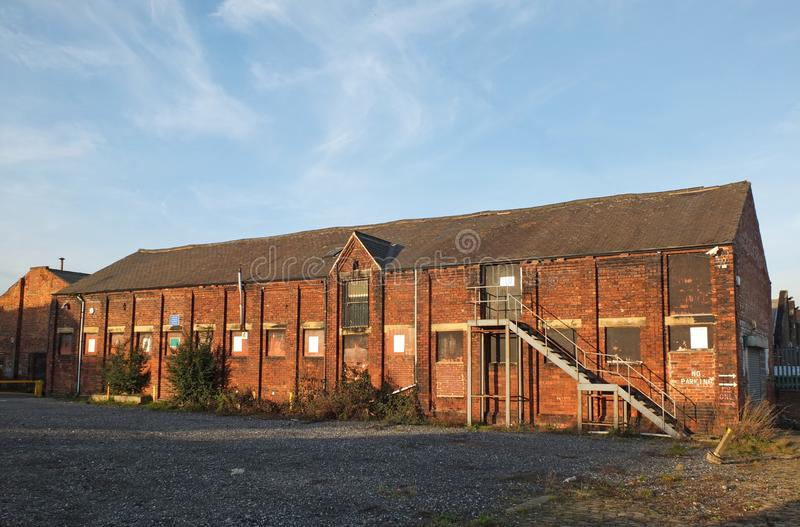 Edificio abandonado viejo de la f foto de archivo libre de regalías