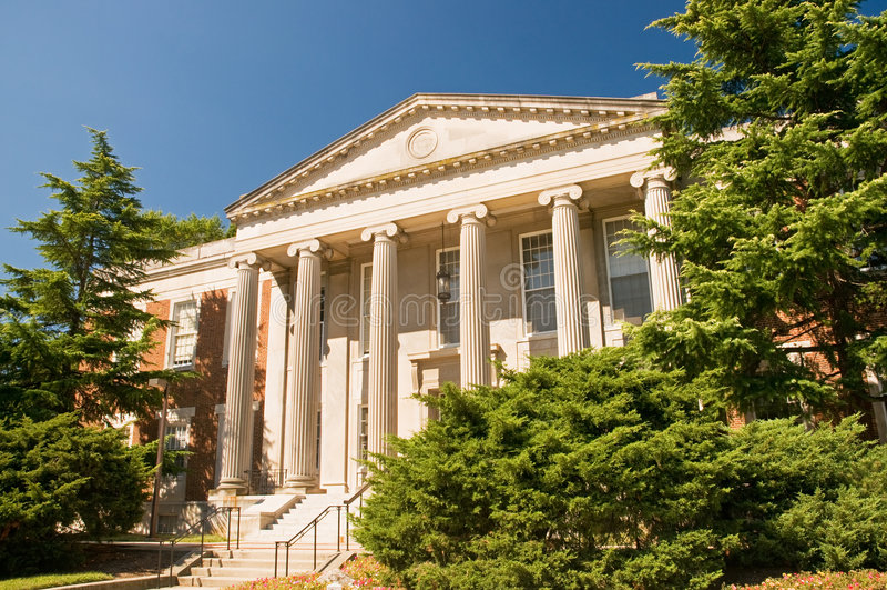 Edificio académico del campus foto de archivo libre de regalías