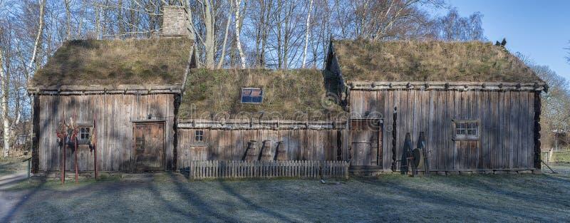 Edificio al aire libre del museo de Fredriksdal foto de archivo