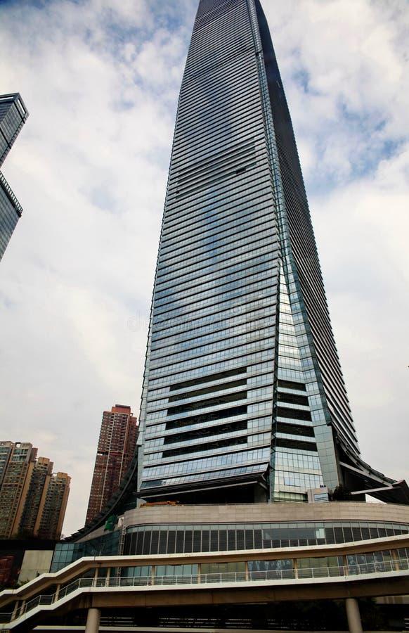 Edificio alto de cristal en Hong Kong foto de archivo