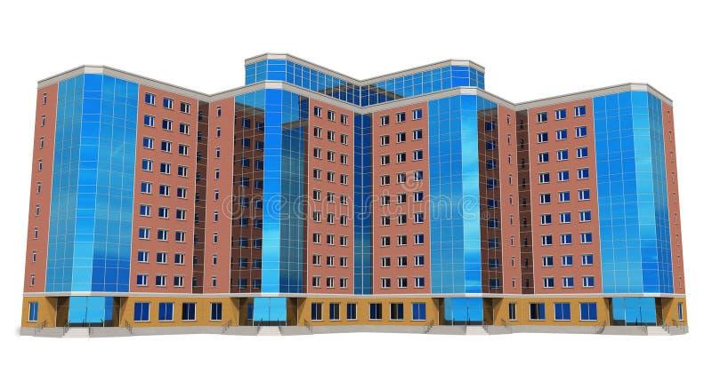 Edificio alto moderno del asunto stock de ilustración