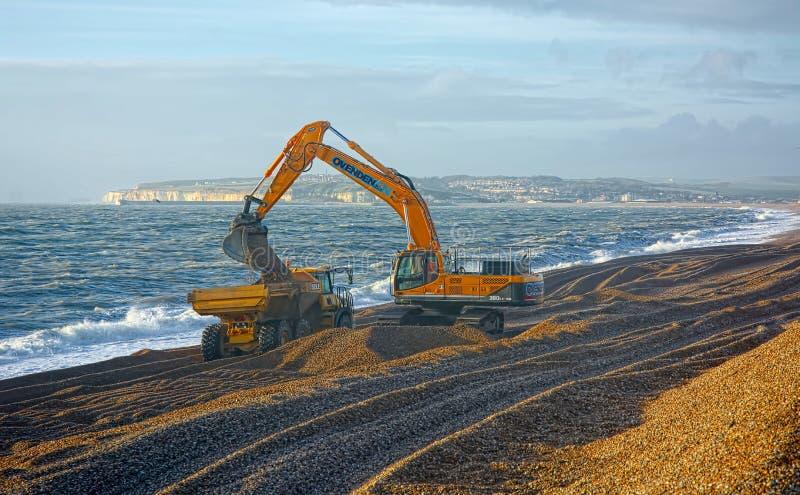 Edificio ambiental de la defensa de mar de la línea de la playa fotografía de archivo libre de regalías
