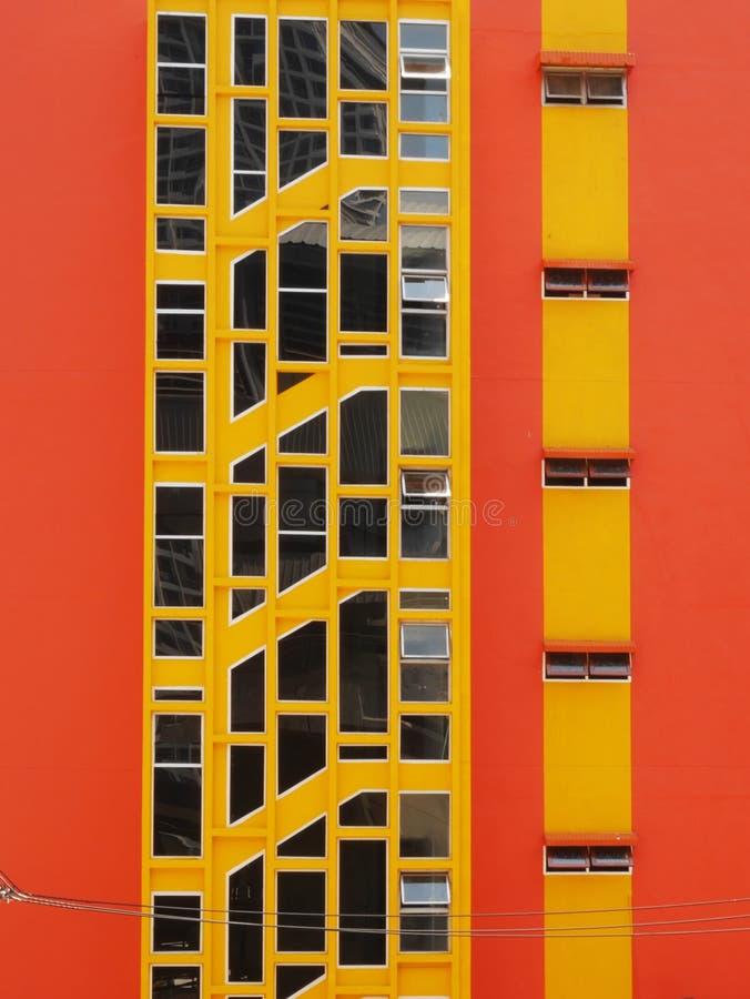 Edificio anaranjado foto de archivo libre de regalías