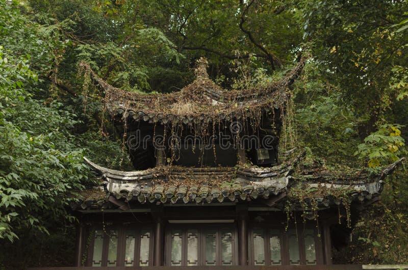 Edificio antiguo del estilo chino de las épocas fotos de archivo