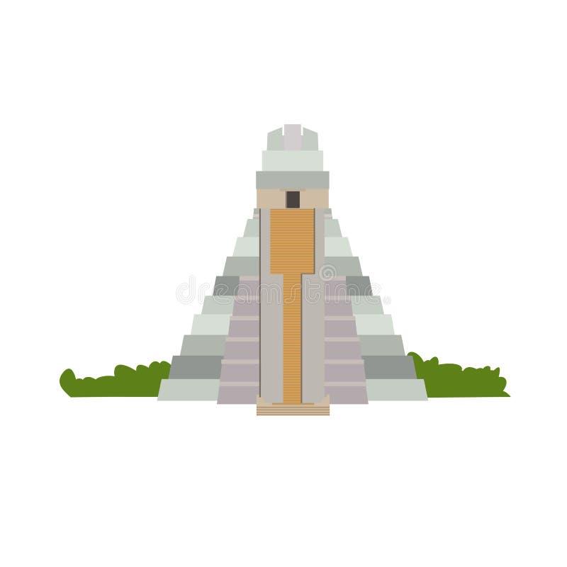 Edificio arquitectónico Pirámide - templo de gran Jaguar, en Cuba libre illustration