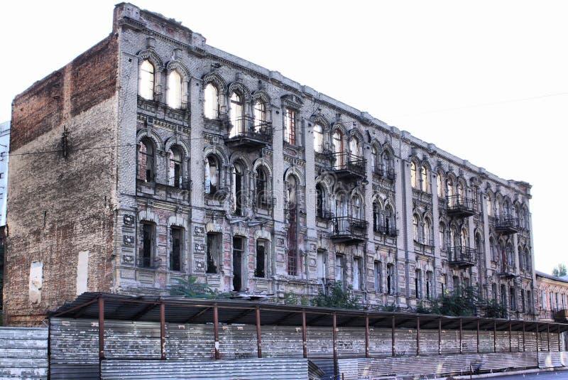 Edificio arruinado viejo fotos de archivo libres de regalías