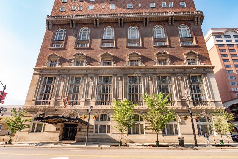Edificio atlético de la asociación de Missouri en St. Louis - ST LOUIS, LOS E.E.U.U. - 19 DE JUNIO DE 2019 imagen de archivo libre de regalías