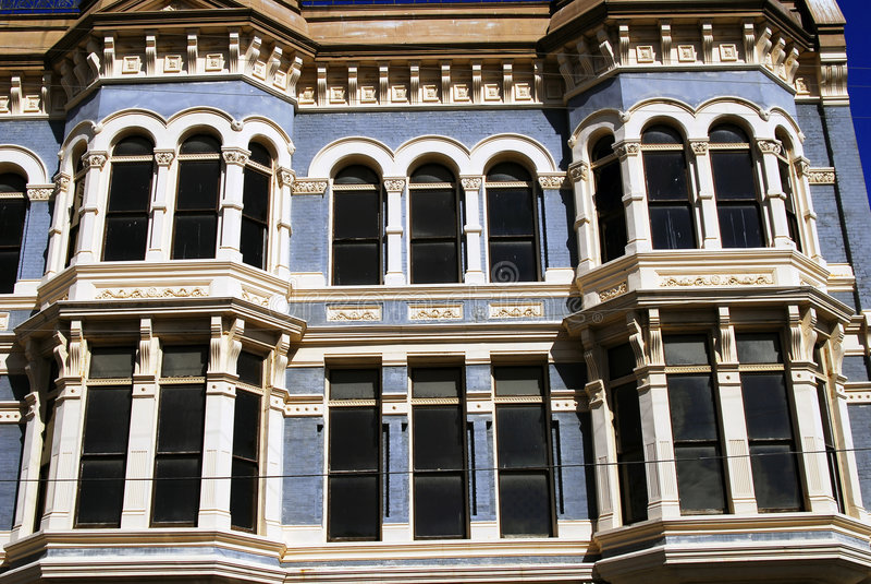 Edificio azul imagen de archivo libre de regalías