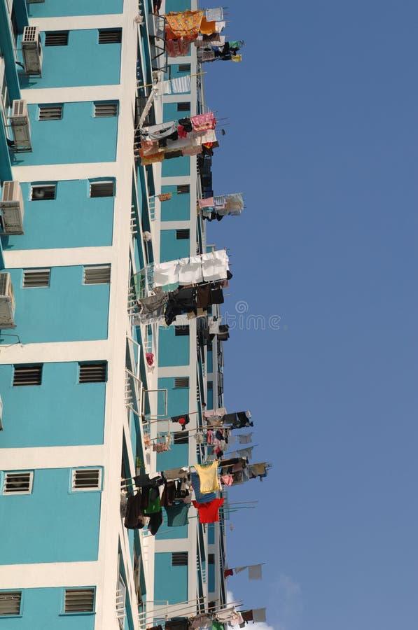 Edificio azul en singapour imágenes de archivo libres de regalías
